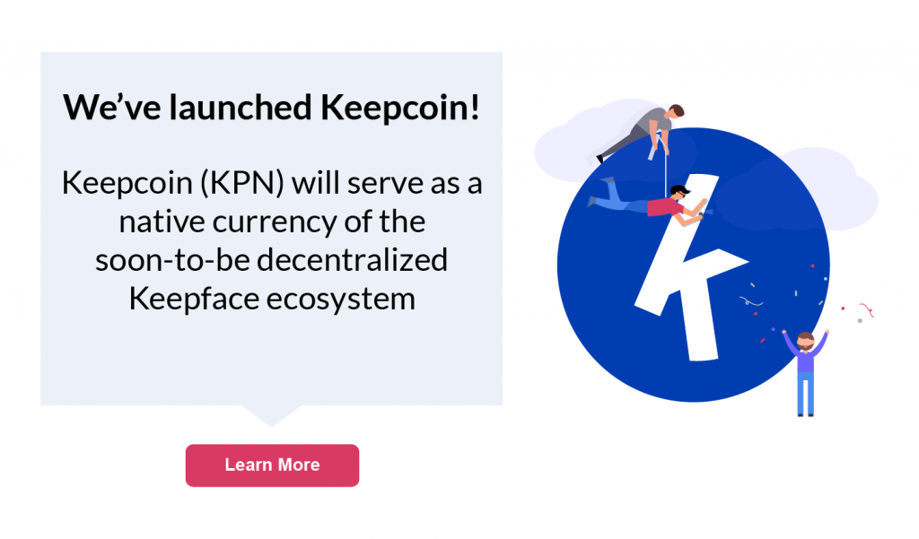 Keepcoin pop up